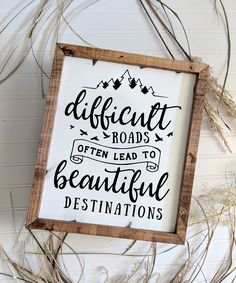 Take a minute and consider the meaning behind this motivational wood sign. This custom wood sign is a wonderful reminder that the easy path does not always bring about the results we are looking for. Office Signs, Office Wall Decor, Rustic Office Decor, Room Decor, Cute Signs, Diy Signs, Custom Wood Signs, Rustic Signs, Sign Quotes