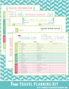 Pinch A Little Save-A-Lot: Free: Travel Planning Kit