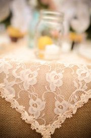 lace and burlap!