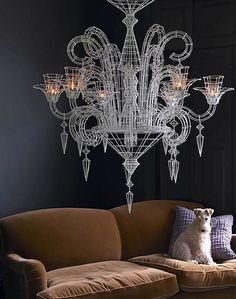 like the wire chandelier