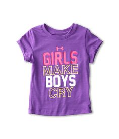 Under Armour Kids Girls Make Boys Cry Tee (Toddler) www.zappos.com