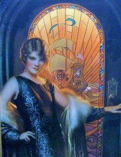 Sydney Flapper by Rolf Armstrong  Vintage Art Deco Fashion