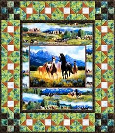 Running Free - A South Sea Imports Pattern Pieced by Marlene Nelson for Fabric Essentials