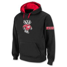 Men's Wisconsin Badgers College Icon Hoodie at Finish LIne