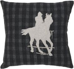 Surya ST109 Machine Made 70 Wool  30 Other Fiber Black Olive 18 x 18 Decorative Pillow -- You can get additional details at the image link.