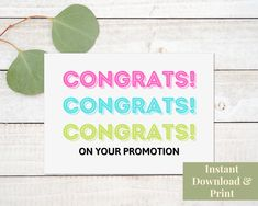 Printable Congratulations Promotion Card, Job Promotion Card Greeting Card Shops, Mother's Day Greeting Cards, Congratulations Promotion, Printable Cards, Printables, Promotion Card, Granny Love, Card Stock, Positivity