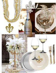 New Orleans themed Diner en Blanc Table