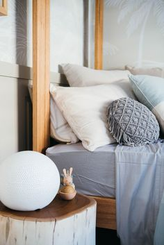 Beautiful Styling by Kara Demmrich. Reno Shows, Kyal And Kara, Timber House, 5 Kids, House Beds, Episode 5, Kids Furniture, Bedside, Kids Bedroom