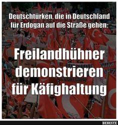 Deutschtürken, die in Deutschland für Erdogan auf die Straße gehen..