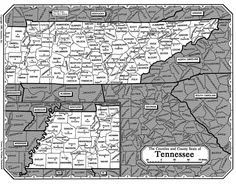 All about genealogy and family history - Map of Tennessee - Ancestry.com Wiki