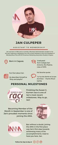 ¡Conozcan a su Asistente de Membership 2016-2017, Jan Culpeper!