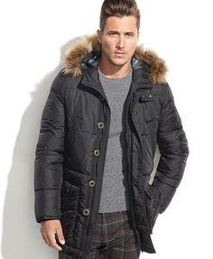 Tommy Hilfiger Hooded Faux-Fur-Trim Performance Parka Men - Coats   Jackets  - Macy s. Vestes Et Manteaux Homme ... ce395251dbf2