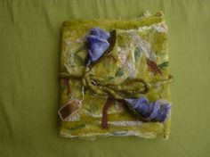 Felted journal cover