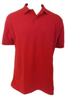 Jos. A. Bank Travelers Collection Polo Shirt Mens Size L Large Red Short Sleeve #JosABank #PoloRugby