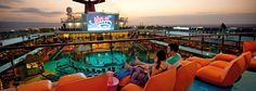 Grab a seat, some fresh popcorn and enjoy a night at the cinema under the stars and watch a movie on the giant LED poolside screen at Dive-In Movies. Carnival Valor Cruise, Carnival Dream Cruise, Carnival Pride, Carnival Glory, Carnival Freedom, Carnival Liberty, Carnival Breeze, Dive In Movie, Christmas Cruises