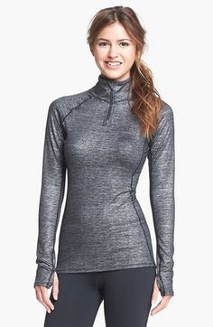 Under Armour 'Shimmer' ColdGear® Half Zip Pullover available at #Nordstrom (only in tusk)