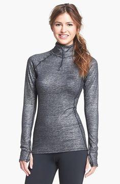 Painstaking Nike Element Dri Fit Womens L Half Zip Long Sleeve Thumb Holes Running Shirt Always Buy Good Women's Clothing Activewear Tops