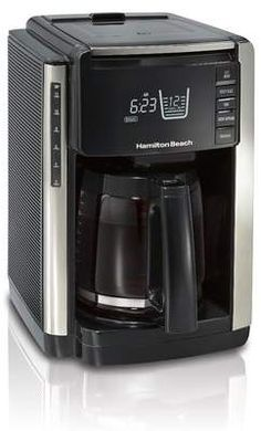 Hamilton Beach 12 Cup TruCount Programmable Coffee Maker with Built In Scale Pod Coffee Makers, Cold Brew Coffee Maker, Drip Coffee Maker, Coffee Cups, Coffee Coffee, Coffee Lovers, Thermal Coffee Maker, Coffee Maker Reviews, Automatic Espresso Machine