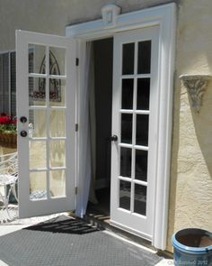 how to install french doors from a window space