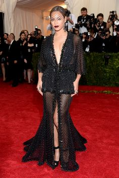 Beyoncé in Givenchy Haute Couture at the 2014 Met Gala. See more red carpet rebels on Vogue.com.