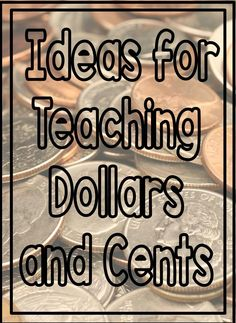 If you are teaching your kids money, than you need this post. Great ideas for games and other activities using coins. Money Activities, Math Resources, Money Games, Teaching Skills, Student Teaching, Teaching Ideas, Math Work, Fun Math, Math Math