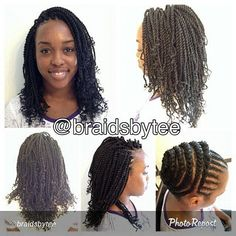 Crochet braids are cool. I might get these one day. I have so many styles that I want to do.