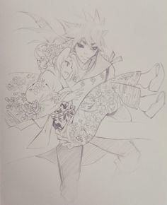 #indra #otsutsuki #sakura #haruno #fanart #savior #kimono #flowers #indrasaku
