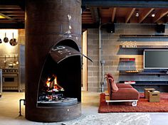 Unusual fireplaces add so much spice to a living space.
