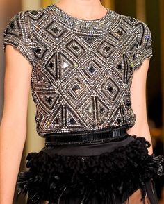 Collette Dinnigan Fall RTW 2012 @collettedinnigan // #fashion #art #style #look #runway #couture #lifestyle #detail #moda #details #color #texture #blog #chic #glam #edgy #girly #fashionista #fashionblog #designer #modern #classy #inspiration #hautecouture #trend #accessories #fashionable #flowers #embroidery #collettedinnigan