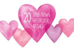 Check out Watercolor hearts by Paper Cards on Creative Market
