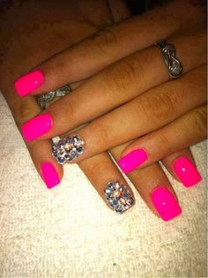 TRENDY NAIL ART 2014 nail art style 2014...I love me some hot pink!!! Lol