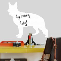 German Shepherd Dry Erase Decal, $18, now featured on Fab.