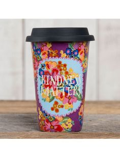 Natural Life Kindness Matters Thermal Mug, Available at #EssentialApparel