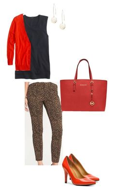 """""""Sept. 8, 2017: Friday: Office Day"""" by miigwan ❤ liked on Polyvore featuring Old Navy, J.Crew, Nine West and Michael Kors"""