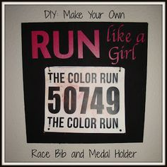 Lean Green Mama: DIY: Make Your Own Race Bib and Medal Holder