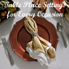 Learn how to set an informal, formal, and elegant table place setting to suite each and every holiday entertaining occasion! Helpful graphics included!