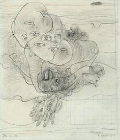 Ile de Ré (study for Les Yeux) by Hans Bellmer, 1961
