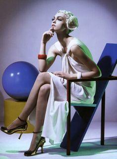 Sasha Pivovarova by Steven Meisel for Vogue Italia