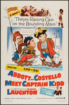 "Abbott and Costello Meet Captain Kidd (Warner Brothers, 1953). One Sheet (27"" X 41""). Comedy. Fine condition."