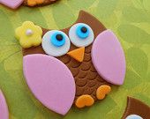 pink and brown owl cupcakes - Google Search