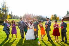 Ninja turtle wedding complete with appropriate weapons! (Fortier Photography)