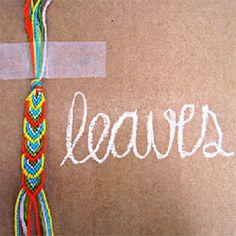 DIY Leafy Friendship Bracelet
