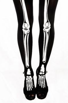 For the skeleton girls! Skeleton Tights, Skeleton Girl, Halloween 4, Halloween Costumes, Alternative Fashion, Alternative Style, Pearl Stud Earrings, Dress Codes, Autumn Fashion