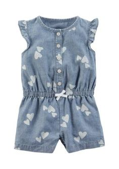Carter's Baby Girls' Romper Navy W Tropical Floral Months, Chambray Blue) Carters Baby Clothes, Carters Baby Girl, Baby Girl Romper, Baby Girls, Babies Clothes, Teen Boys, Baby Girl One Pieces, Mens Winter Coat, Winter Coats