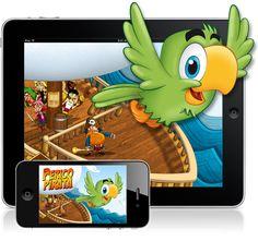 Perico Pirata App. Children storyteller with games. (2012) 1st price. Desafío Blackberry