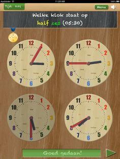 Leer en oefen klokkijken met apps Primary School, Website, Ipads, Education, Dyslexia, Clock, Upper Elementary, Onderwijs, Learning