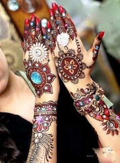 Mehndi colors..