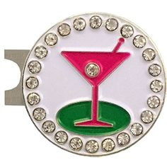 Giggle Golf Bling 19th Hole Golf Ball Marker With A Standard Hat Clip
