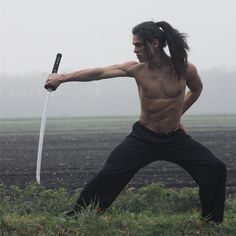 Great image of man with katana
