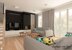 Wystrój wnętrz - Salon ze ścianą tv, z dwustronnym kominkiem - pomysły na aranżacje. Projekty, które stanowią prawdziwe inspiracje dla każdego, dla kogo liczy się dobry design, oryginalny styl i nieprzeciętne rozwiązania w nowoczesnym projektowaniu i dekorowaniu wnętrz. Obejrzyj zdjęcia!